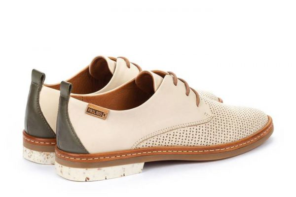 Pikolinos SANTANDER W7C-4987C1 Leather Lace-up Shoe for Women - Marfil