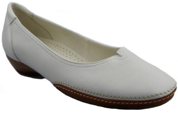 Gabor ballerina pumps 04.280.21 white leather