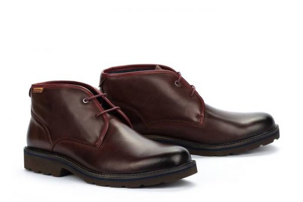 Pikolinos BILBAO M6E-8320 Leather Ankle Boots for Men - Olmo