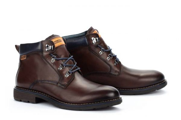 Pikolinos YORK M2M-8322 Leather Ankle Boots for Men - Olmo