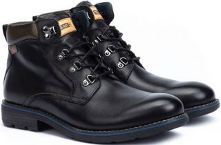 Pikolinos YORK M2M-8322 Leather Ankle Boots for Men - Black
