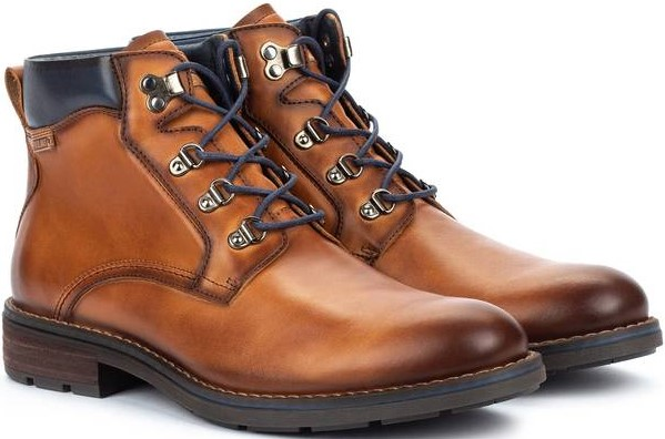 Pikolinos YORK M2M-8322 Leather Ankle Boots for Men - Brandy