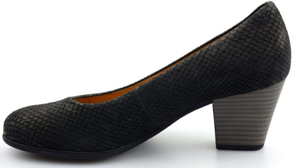 Gabor pumps 25.470.87 black cobra nubuck