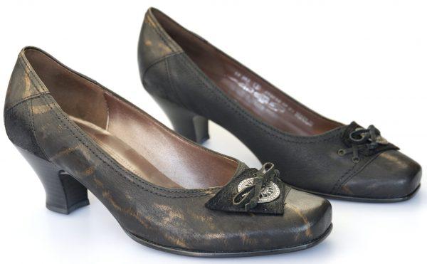 Gabor pumps 51.363.67 black/gold leather