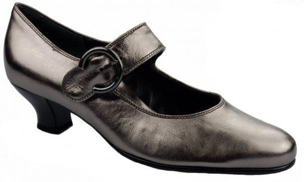 Gabor pumps 62.129.98 metallic silver leather
