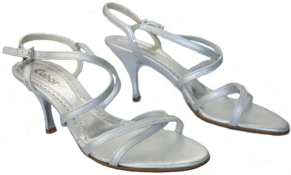 Gabor sandals 61.722.64 silver patent leather