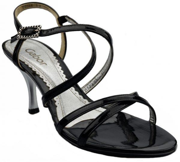 Gabor sandals 61.722.97 black patent leather
