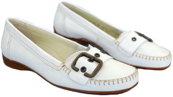 Gabor mocassin 62.522.50 white leather