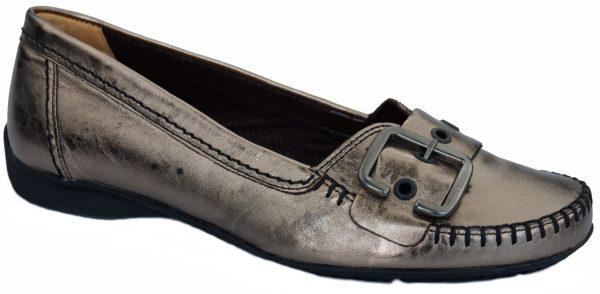 Gabor mocassin 62.522.90 silver metallic leather