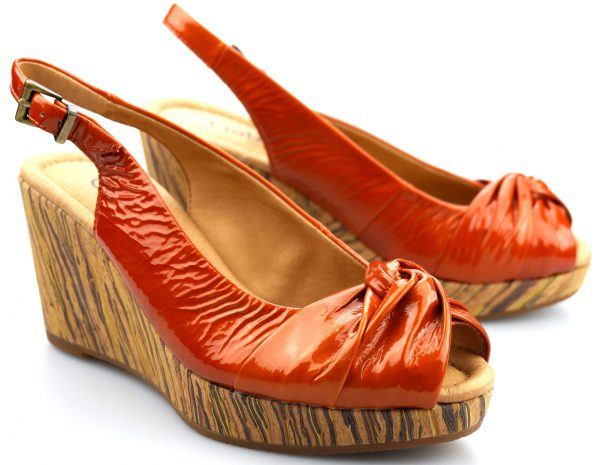 Gabor sandals 62.836.95 orange patent leather