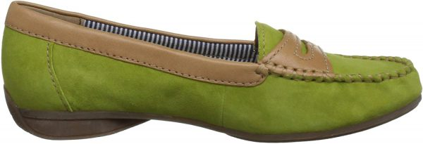 Gabor moccasins 64.210.11 green suede leather
