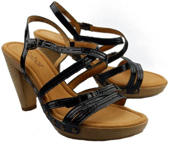 Gabor sandals 65.783.97 black patent leather