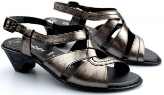 Gabor sandal 66.544.98 silver metallic leather
