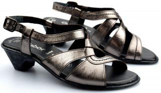 Gabor sandal 66.544.98 silver metallic leather