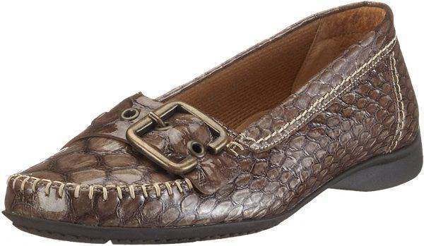Gabor mocassin 82.522.82 taupe patent leather  python print
