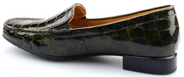 Gabor 96.324.33 alligatorlack olive green leather