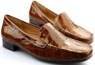 Gabor 96.324.34 aligatorlack caramel leather