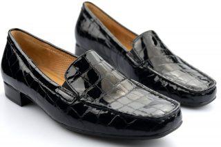 Gabor 96.324.97 alligatorlack black leather