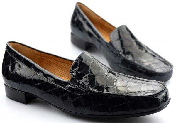 Gabor 96.324.39 alligatorlack grey leather