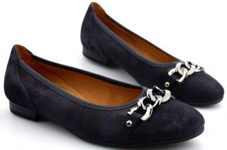Gabor ballerinas 22.612.26 dark blue suede