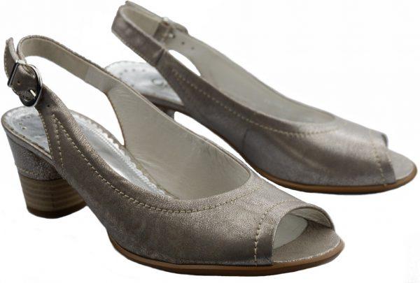 Gabor pumps 06.570.94 metallic grey leather