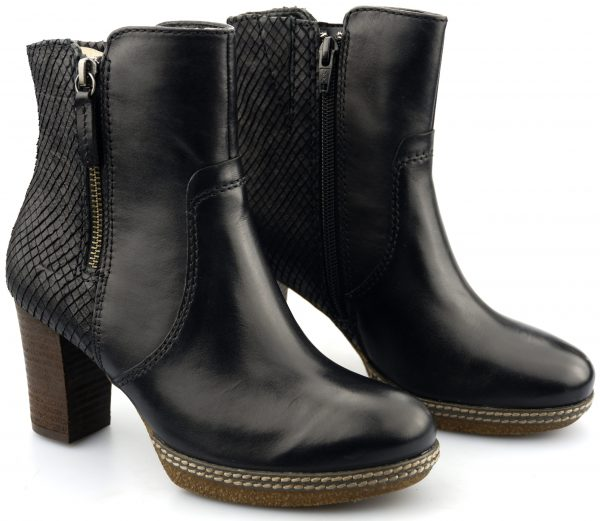 Gabor ankle boots 32.871.67 black leather   partly snake print