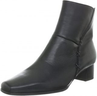 Gabor ankle boots 96.620.57 black leather    WIDE FITTING