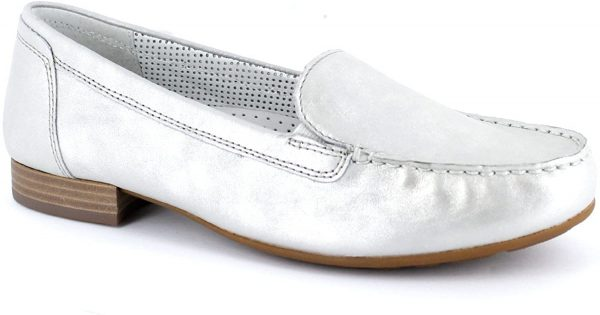 Gabor moccasin 82.680.80 argento silver leather
