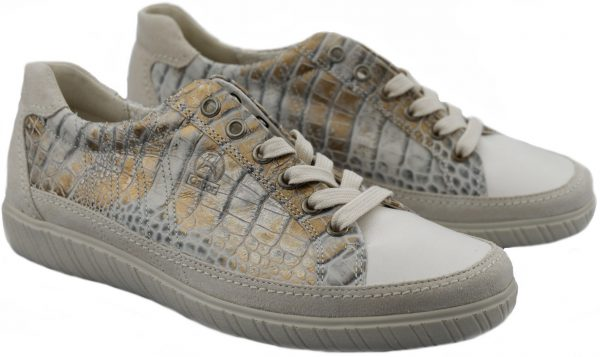 Gabor sneaker 86.458.83 beige croco leather