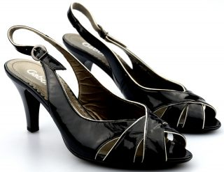 Gabor 61.763.97 pump/sandal black leather