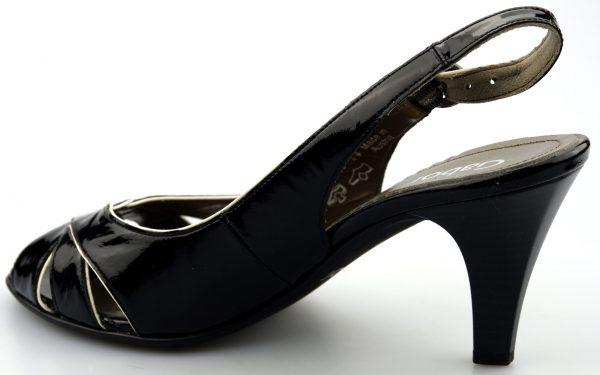 Gabor 61.763.97 pump/sandal black leather