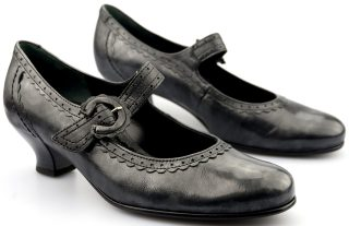 Gabor pumps 72.164.69 anthracite/silver leather