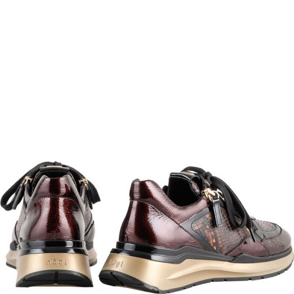 Högl sneakers Future 0-101357-8625 dark brown / nut patent leather