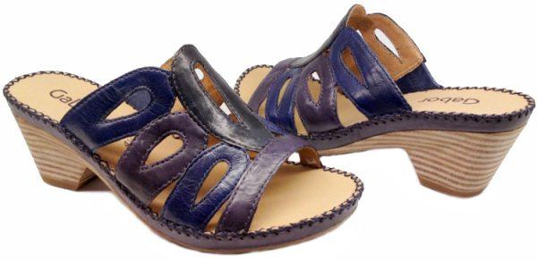 Gabor slippers 05.760.50 blue violet leather