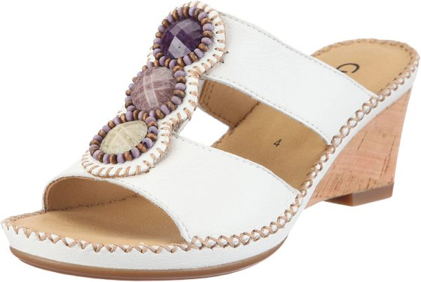 Gabor sandals 25.715.21 white leather        WEDGES