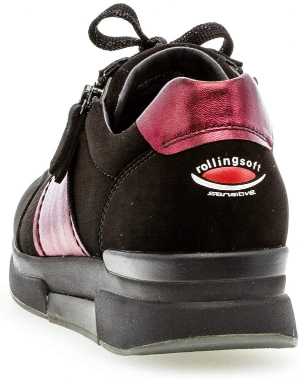 Gabor rollingsoft sensitive 36.928.87 women walking - black red