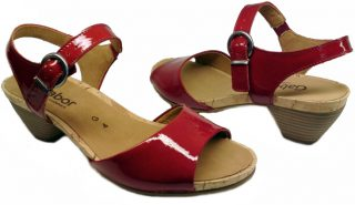 Gabor sandals 46.514.28 red patent leather