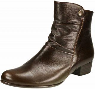 Gabor ankle boots 56.613.65 dark brown leather WIDE FITTING