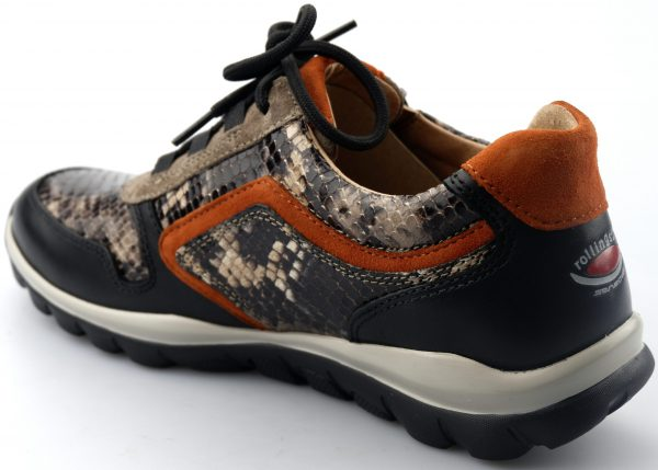 Gabor rollingsoft sensitive 56.964.81 women walking shoes - black snakeprint