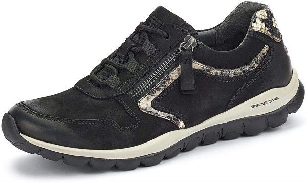 Gabor rollingsoft sensitive 56.964.67 women walking shoes - black