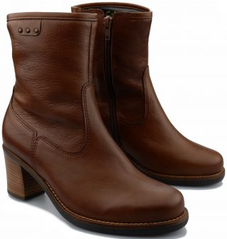 Gabor ankle boots 92.814.64 cognac brown leather