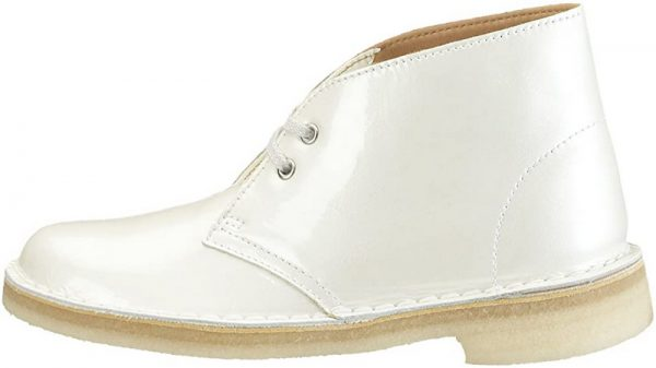 Clarks Originals ankle boots DESERT BOOT white patent leather