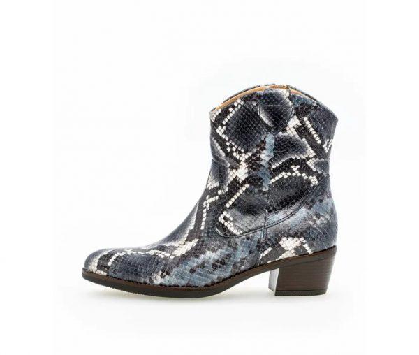 Gabor 51.600.36 Women Ankle Boot - blue crocoprint