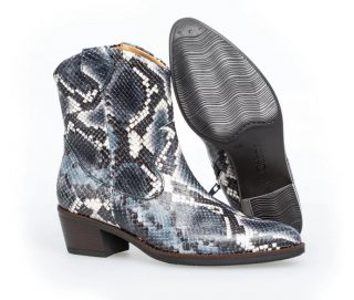 Gabor 51.600.36 Women Ankle Boot - blue crocoprint