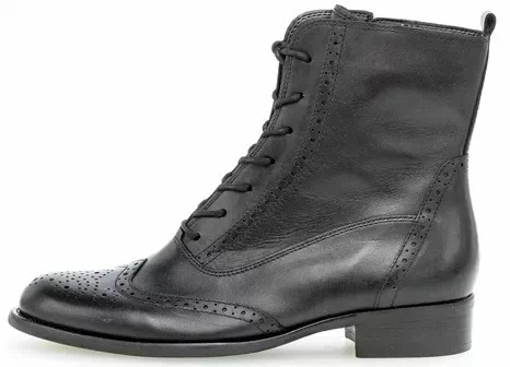 Gabor ankle boot 51.642.27 black leather