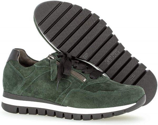 Gabor 56.438.31 Women Sneaker - Green suede