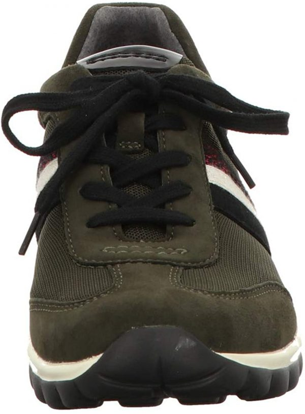 Gabor rollingsoft 56.966.35 dark green nubuck and mesh combi