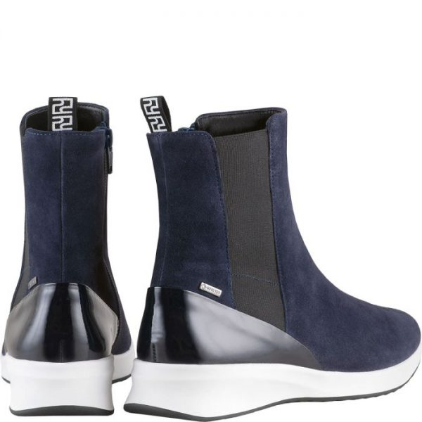 Högl ankle boots Dry Track 0-103715-3000 Gore-Tex blue suede