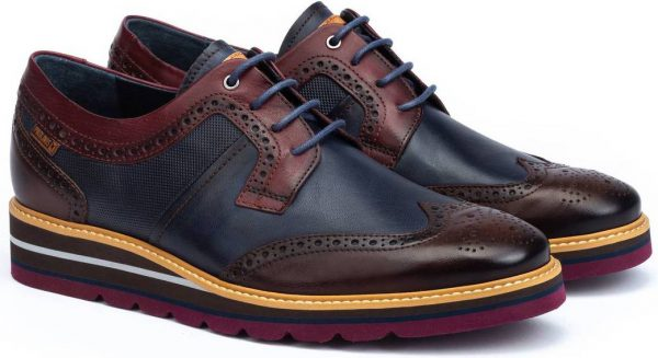 Pikolinos DURCAL M8P-4009C1 Leather Lace-up Shoe for Men - Olmo