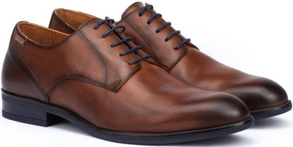 Pikolinos Bristol M7J-4187 Leather Lace-up Shoe for Men - Cuero - Brown
